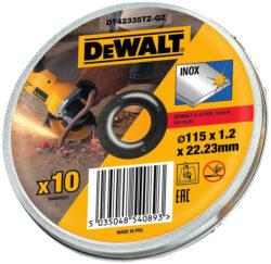 DEWALT DT42335TZ-QZ Kotouč řezný 115x1,2mm v boxu (10ks bal.)-Kotouč řezný 115x1,2mm v boxu (10ks bal.)