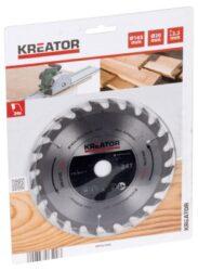 KREATOR KRT021600 Pilový kotouč SK 165x20 24z-Pilový kotouč SK 165x20 24z