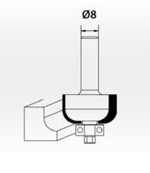 KREATOR KRT060105 Fréza profilová s ložiskem S8(7910855)