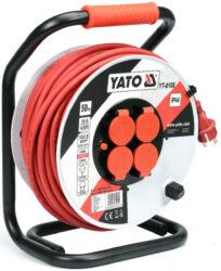YATO YT-8108 Kabel 50m na cívce 4zásuvky PVC IP44 3G2,5mm 16A-Kabel 50m na cívce 4zásuvky PVC IP44 3G2,5mm 16A