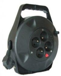 MAGG PB21 Kabel 10m na cívce 4x zásuvka 3x1,5mm-Kabel 10m na cívce 4x zásuvka 3x1,5mm