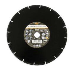 MAGG DKAM230 Univerzální diamantový kotouč 230mm (kámen/kov/plast/dřevo)-Univerzální diamantový kotouč 230mm (kámen/kov/plast/dřevo)
