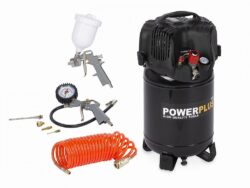 POWER PLUS POWX1731 Kompresor bezolejový 24L 1100W + 7ks přísluš.-Kompresor bezolejový 24L 1100W + 7ks přísluš.