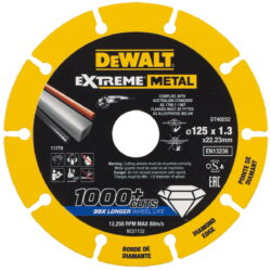 DEWALT DT40252 Kotouč diamantový řezný na kov 125x1,3x22,23mm                   -Řezný diamantový kotouč 125mm na kov