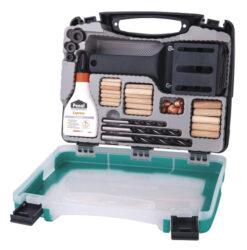 WOLFCRAFT 4645000 Kolíkovací set 6/810mm (kolíkovačka,kolíky,lepidlo,vrtáky)-Kolíkovací set 6/810mm (kolíkovačka,kolíky,lepidlo,vrtáky)