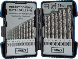 NAREX 65405602 Sada vrtáků do kovu 1-10mm (19ks) 19-SET HSS-G MSP-Sada vrtáků do kovu 1-10mm (19ks)